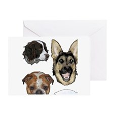 Dog collage Greeting Card