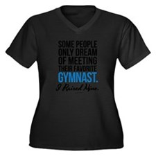 Unique Gymnastics dad Women's Plus Size V-Neck Dark T-Shirt