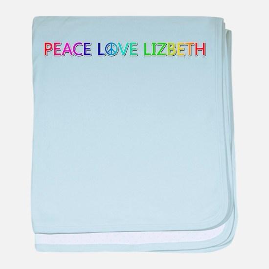 Peace Love Lizbeth baby blanket