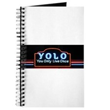 YOLO You Only Live Once sign Journal