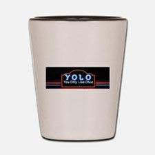 YOLO You Only Live Once sign Shot Glass