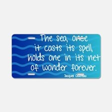 Ocean Wonders Aluminum License Plate
