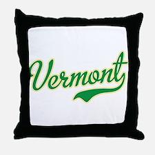 Vermont Script Font Throw Pillow