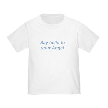 Say Hello Blue Wing Toddler T-Shirt