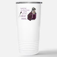 Cute I love my great dane Travel Mug