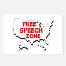 Free Speech Zone Postcards (Package of 8)