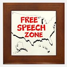 Free Speech Zone Framed Tile