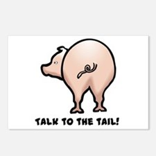 Talk to the Tail Pig Postcards (Package of 8)