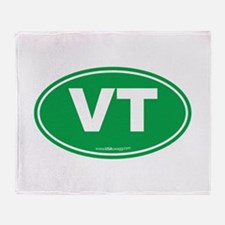 Vermont VT Euro Oval GREEN Throw Blanket