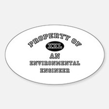 Property of an Environmental Engineer Decal