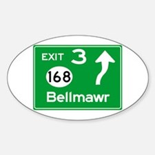 NJTP Logo-free Exit 3 Bellmawr Decal