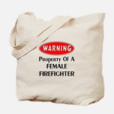 Female Firefighter Property Tote Bag
