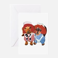 Raggedy Ann & Andy Doxies Greeting Card