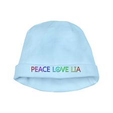 Peace Love Lia baby hat