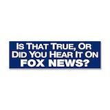 """Fox news 3"""" x 10"""""""