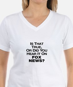 True or Fox News? Shirt