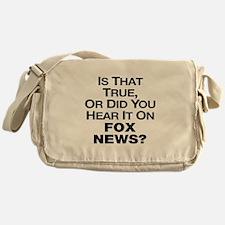 True or Fox News? Messenger Bag