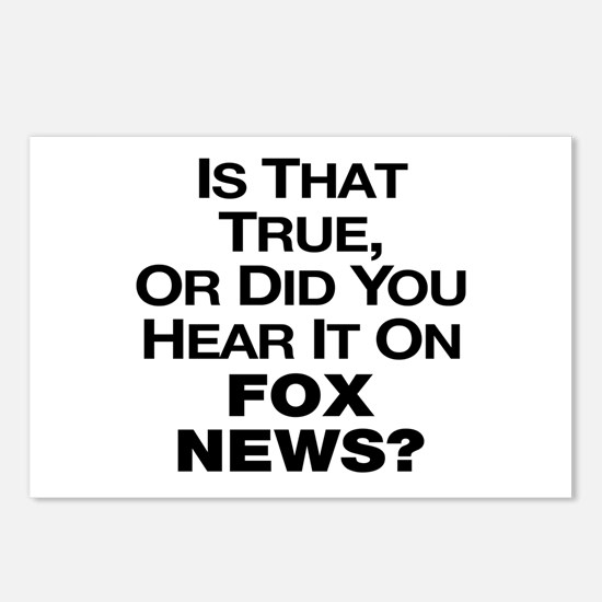 True or Fox News? Postcards (Package of 8)