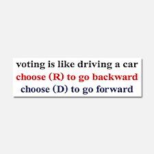 Democrat Voting/Driving Car Magnet 10 x 3