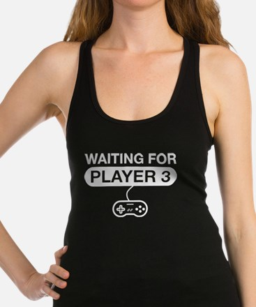 waiting for player 3 Racerback Tank Top