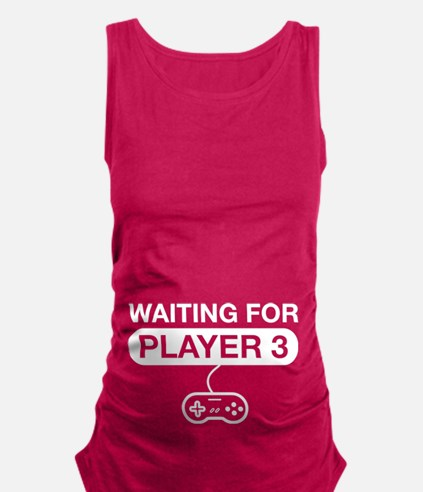 waiting for player 3 Maternity Tank Top