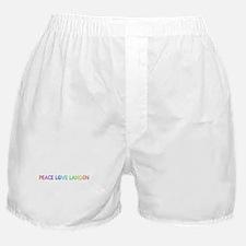 Peace Love Landen Boxer Shorts