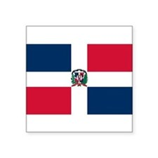 "Unique Dominican republic Square Sticker 3"" x 3"""