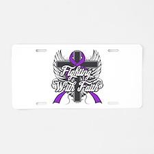 Alzheimers Disease Faith Aluminum License Plate