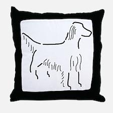 Irish Setter Sketch Throw Pillow