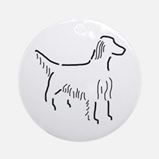 Irish Setter Sketch Ornament (Round)