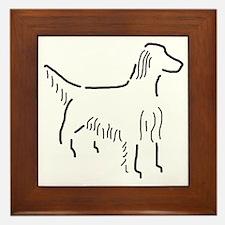 Irish Setter Sketch Framed Tile