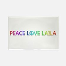 Peace Love Laila Rectangle Magnet