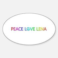 Peace Love Lena Oval Decal