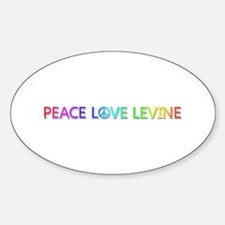 Peace Love Levine Oval Decal