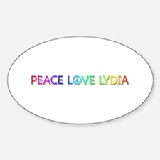 Peace Love Lydia Oval Decal