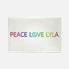 Peace Love Lyla Rectangle Magnet