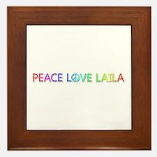 Peace Love Laila Framed Tile