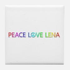 Peace Love Lena Tile Coaster