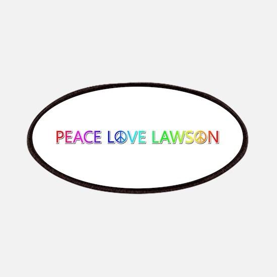 Peace Love Lawson Patch