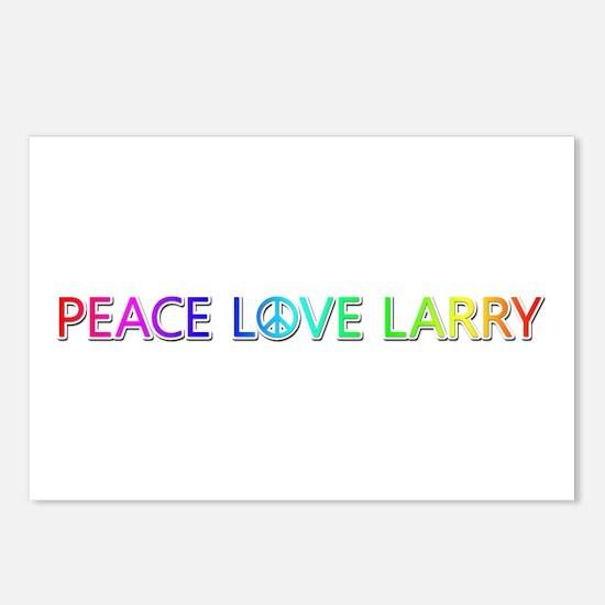 Peace Love Larry Postcards 8 Pack