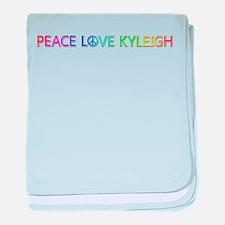 Peace Love Kyleigh baby blanket