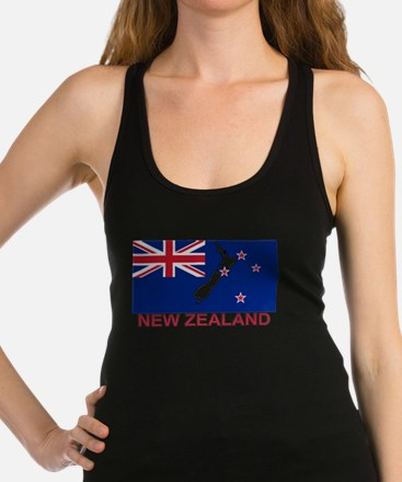 New Zealand Flag (labeled) Tank Top
