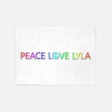 Peace Love Lyla 5'x7' Area Rug
