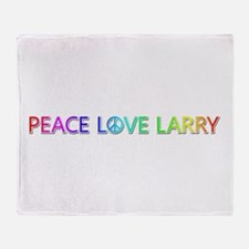 Peace Love Larry Throw Blanket