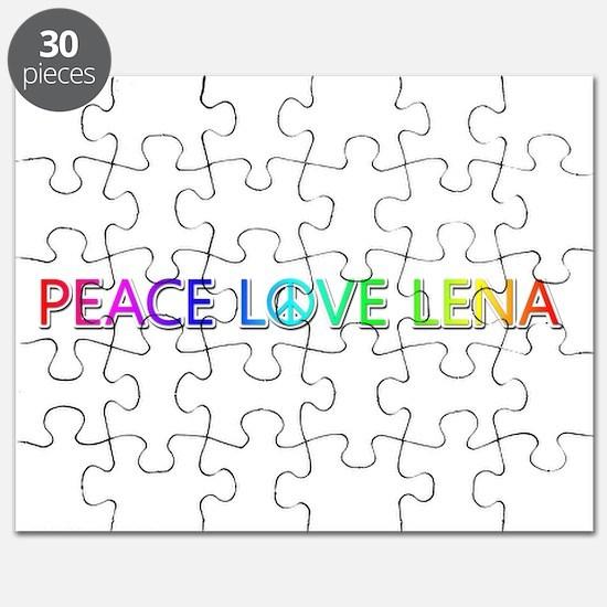 Peace Love Lena Puzzle