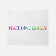 Peace Love Lindsey Throw Blanket