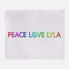 Peace Love Lyla Throw Blanket