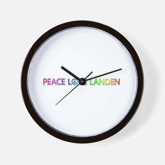 Peace Love Landen Wall Clock