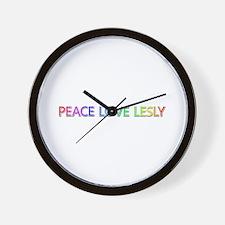Peace Love Lesly Wall Clock