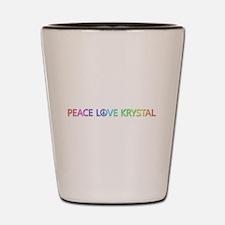 Peace Love Krystal Shot Glass